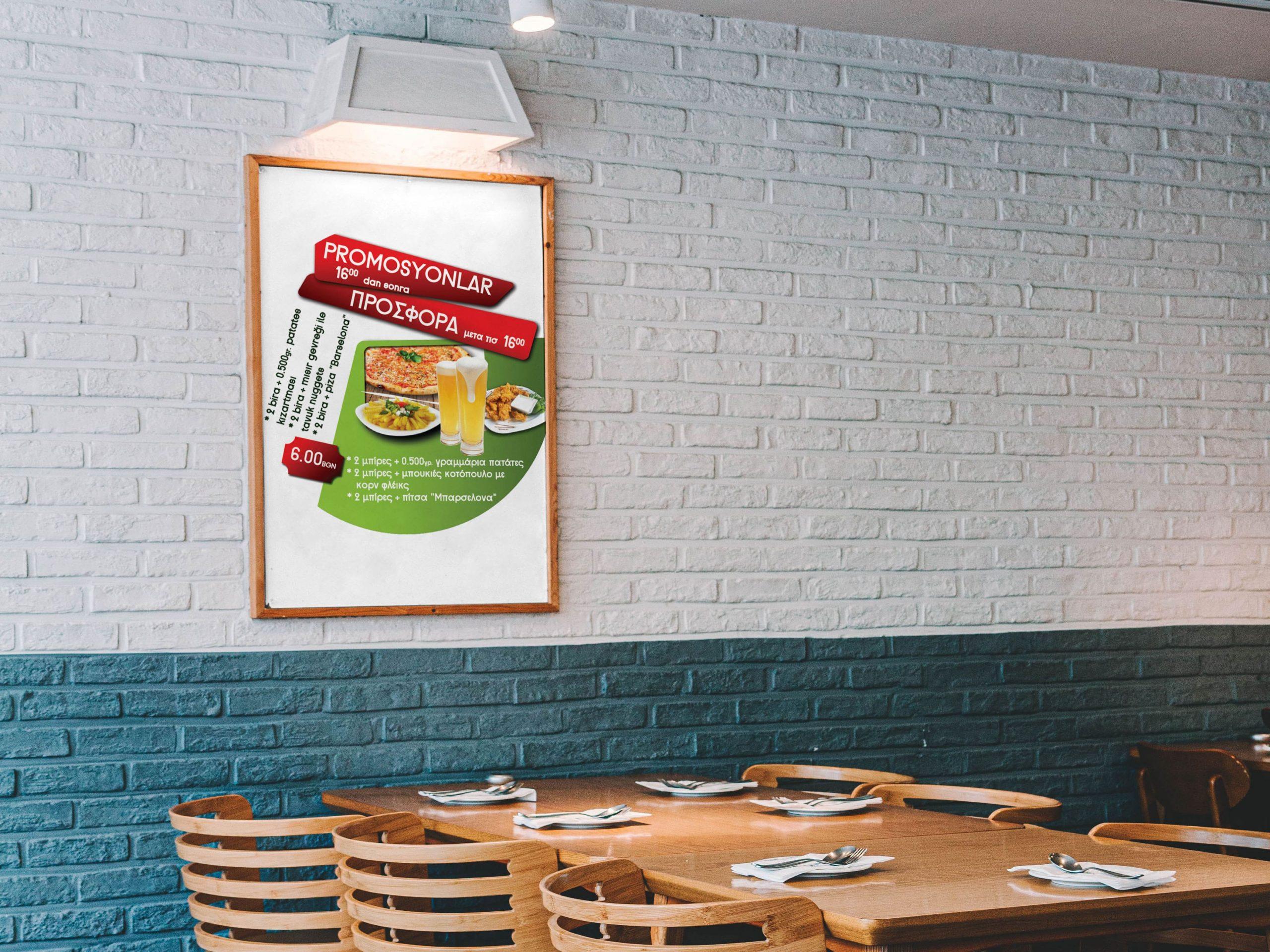 Wall-Framed-Restaurant-Menu- food- promotion DESIGN