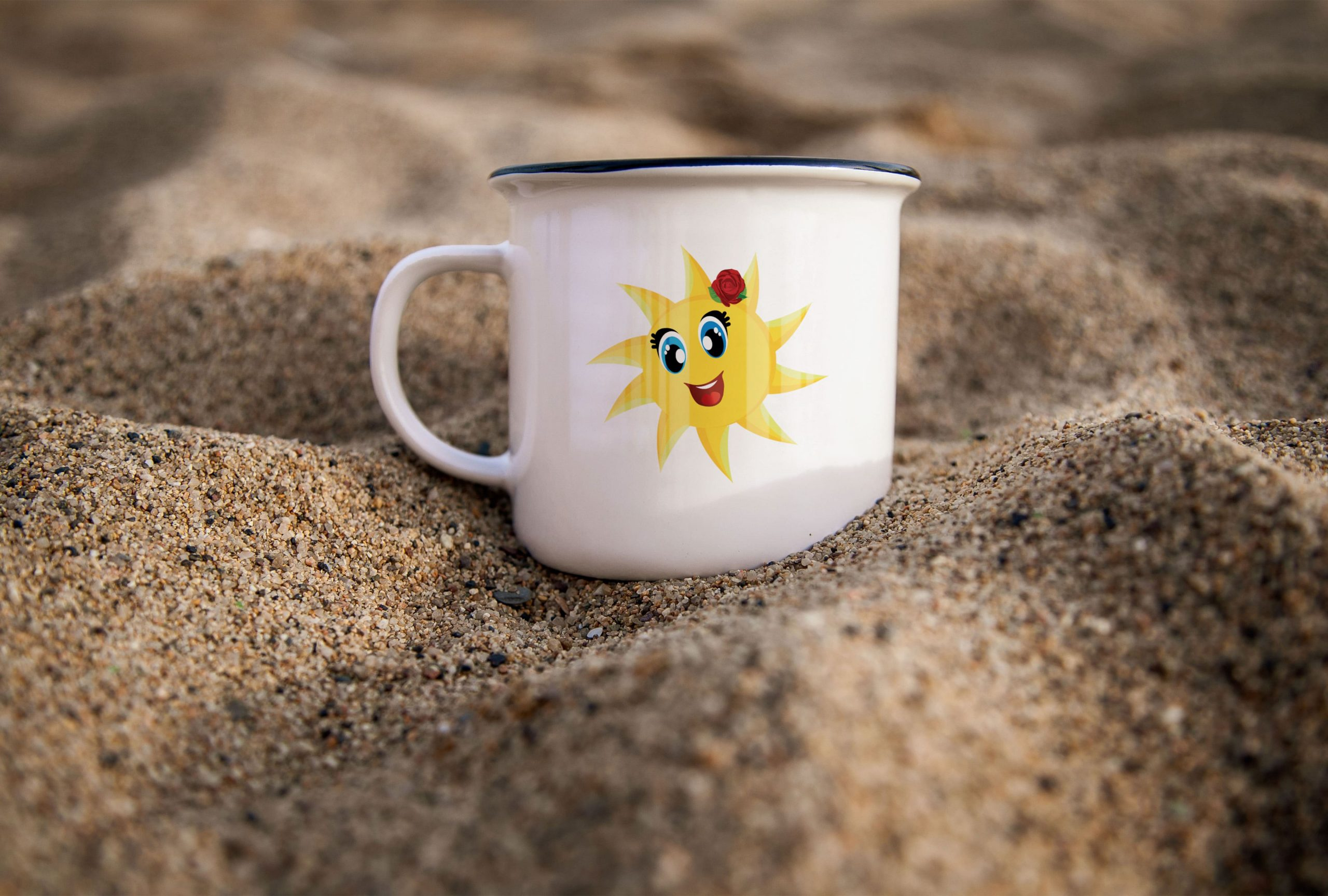 sun logo NINDIKA-Mug-in-Sand
