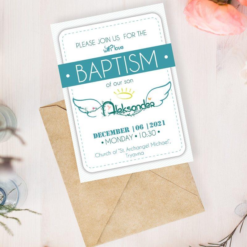 baptism invitation for boy by Nindika
