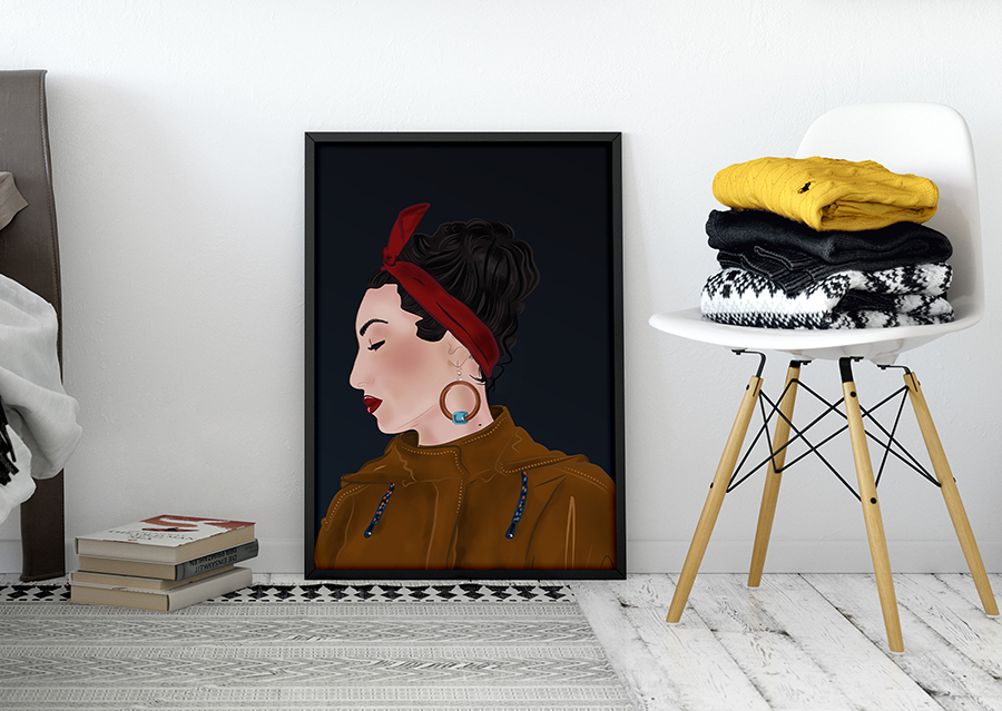 digital illustrated portrait DI by Nindika