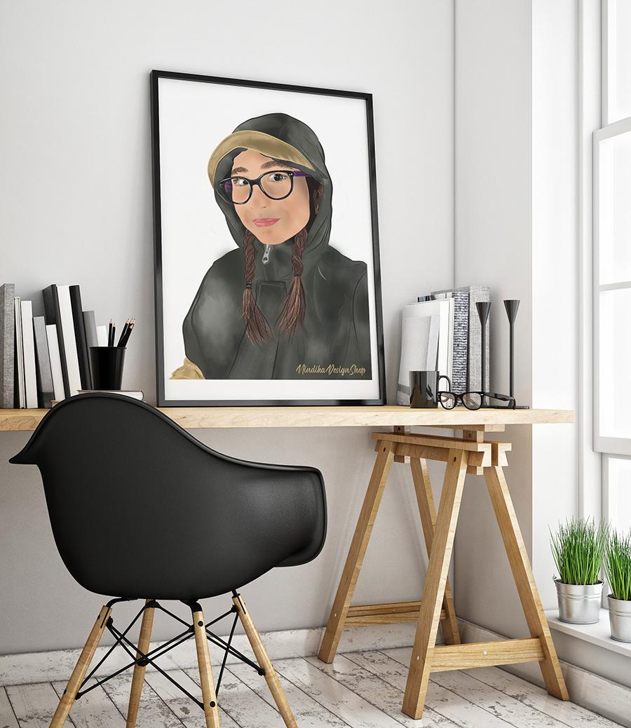digital illustrated portrait KR by Nindika