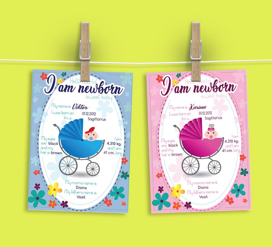 illustrated-shower-baby-card by Nindika