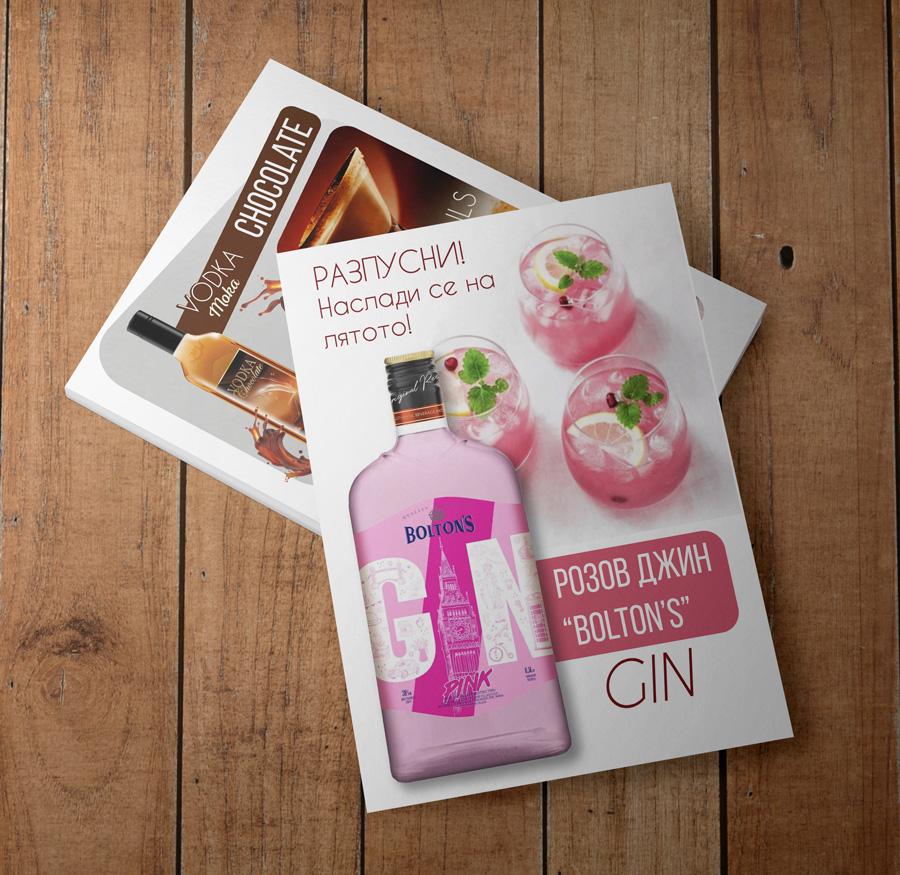 alcohol-flyer pink gin ang chocolate vodka by Nindika
